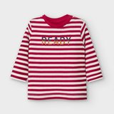 Mayoral Long sleeved striped t-shirt with letters for baby boy_