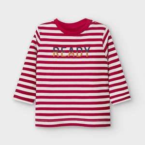 Mayoral Long sleeved striped t-shirt with letters for baby boy